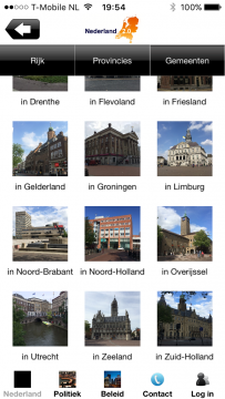 Nederland 2.0 menu gemeenten